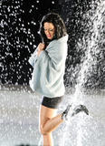 Katy Perry films her new music video 3Oh!3 getting completely wet and nippy in a fountain -