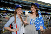 Sophie Simmons at the Dodgers game 07/05/11